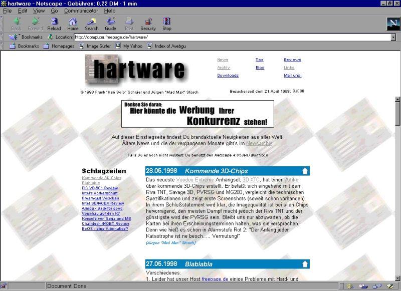 Hartware vor neun Jahren
