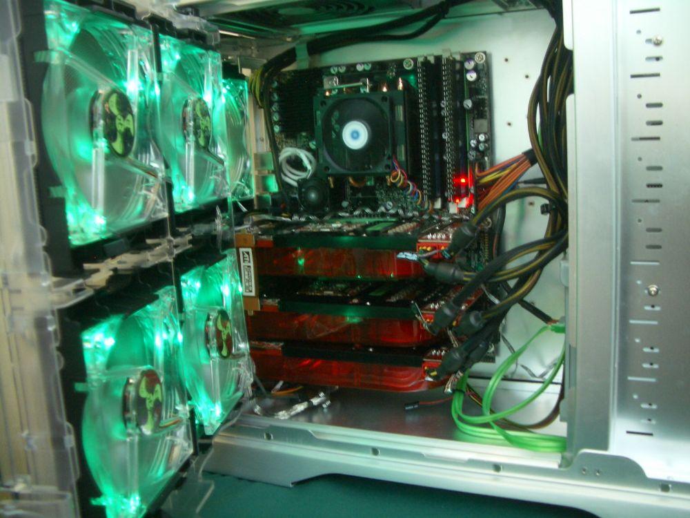 AMD Phenom Quad-Core System mit drei Radeon HD 2900 Grafikkarten