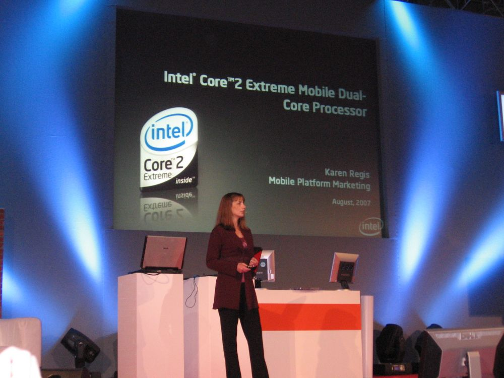 Präsentation des neuen Intel High-End Notebook-Prozessors