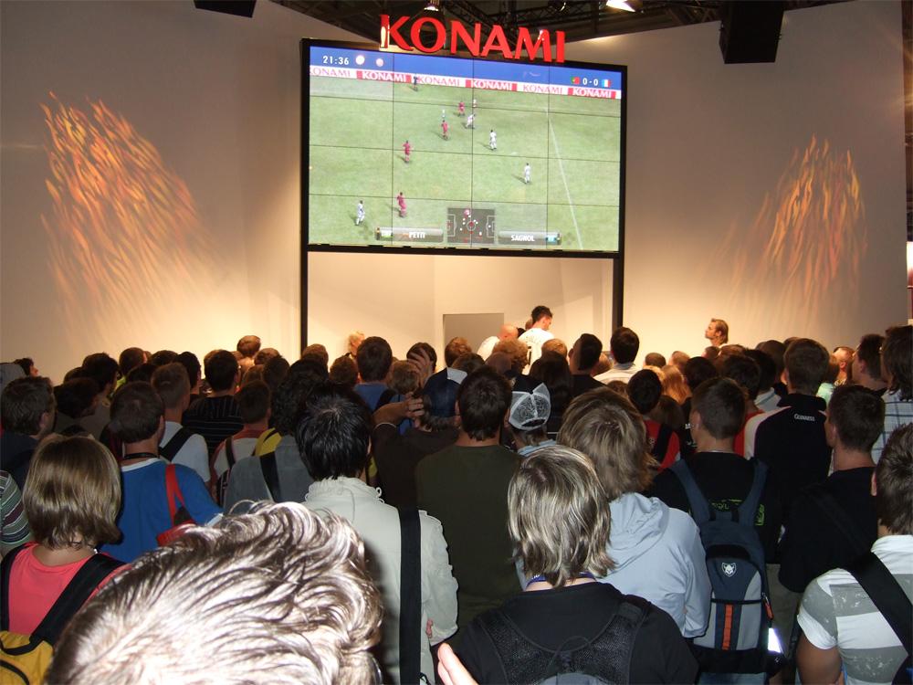 PES 2008 am Konami Stand