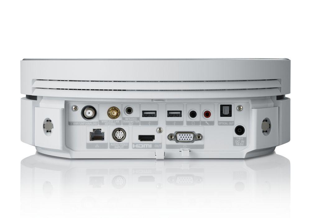 Hinten findet man dann noch weitere Anschlüsse wie etwa HDMI, VGA und einen optischen Sound-Ausgang