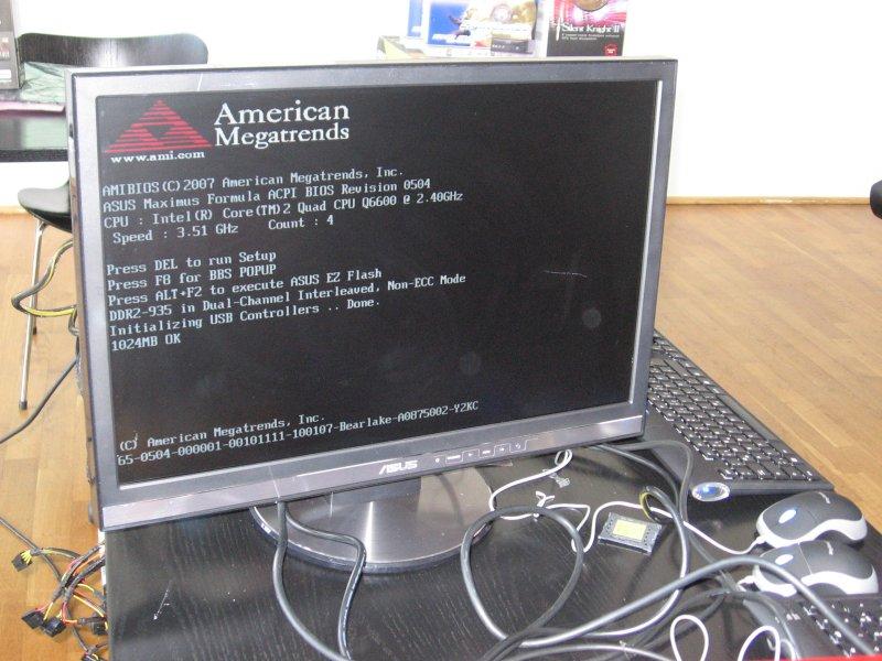 Core 2 Q6600 statt 2,4 mit 3,5 GHz