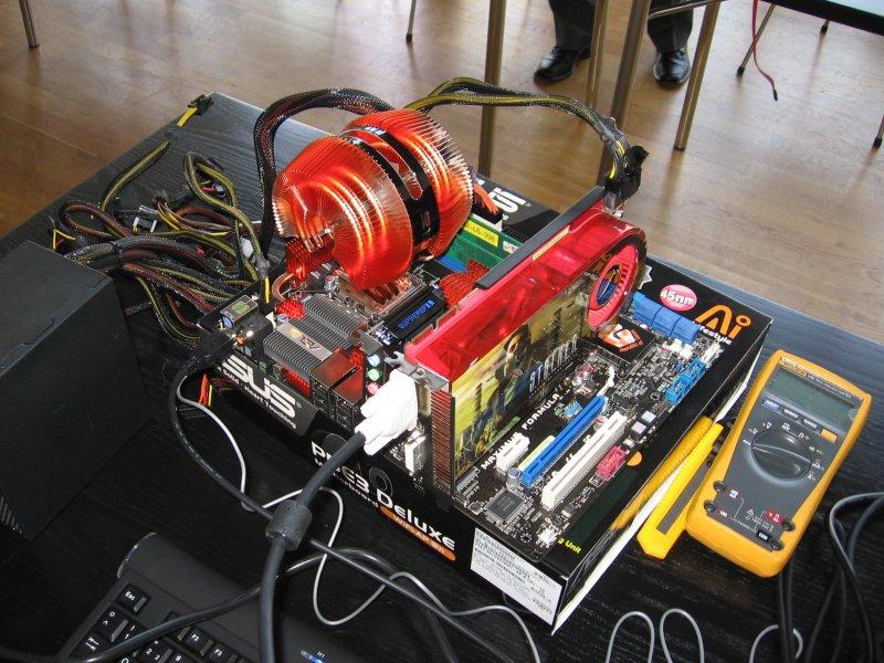 Testsystem für CPU Level Up...