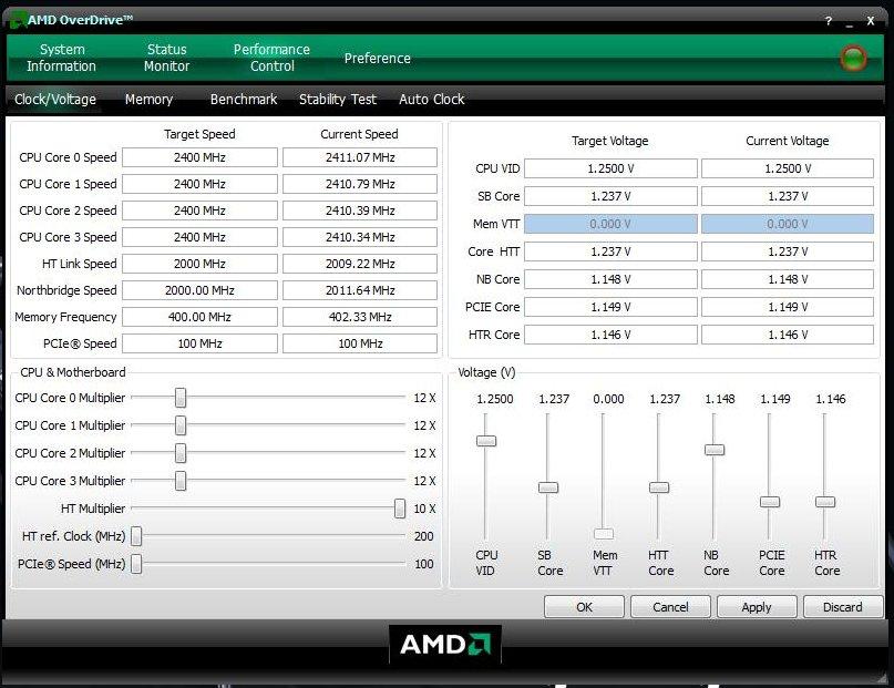 OverDrive: Übertaktung des AMD Phenom