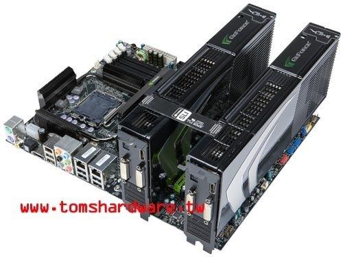 GeForce 9800 GX2 Quad-SLI (Bild von Tomshardware.tw)