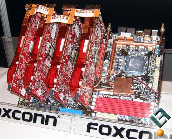 Foxconn Mainboard für vier ATI-Grafikkarten