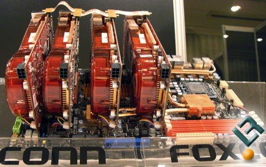 Gezeigt mit vier ATI Radeon HD 2900 XT