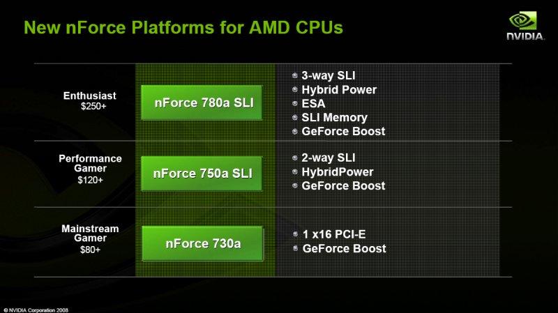 Übersicht: neue nForce Chipsätze für AMD