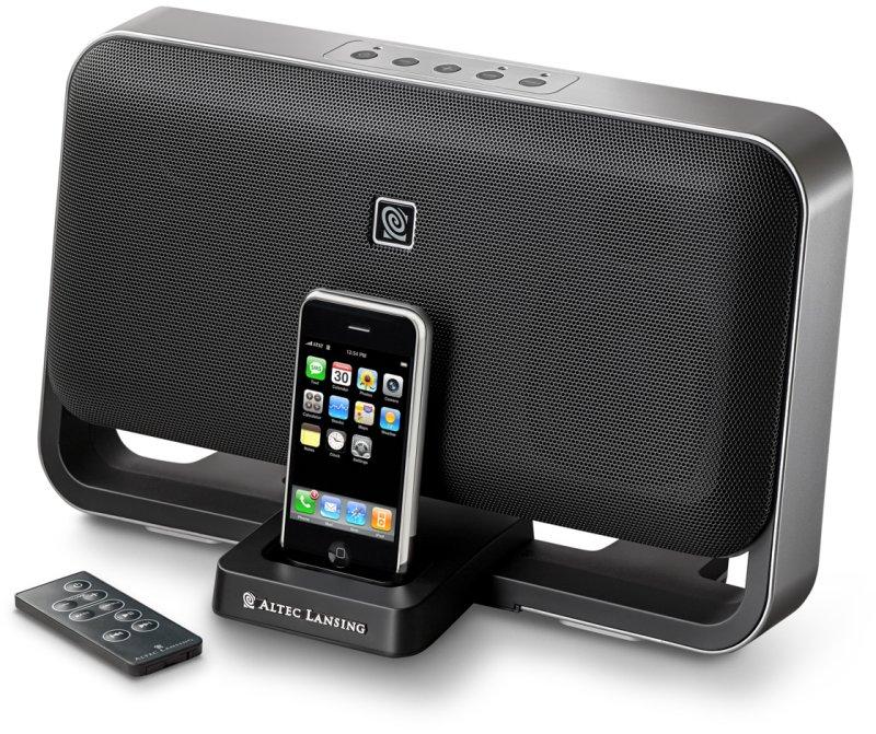 lautsprecher mit iphone dock hartware. Black Bedroom Furniture Sets. Home Design Ideas