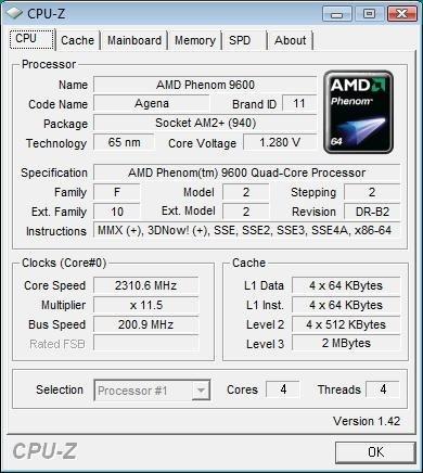 Screenshot von CPU-Z