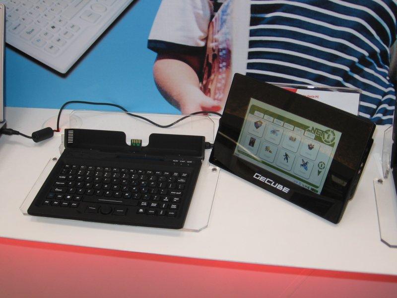 GeCube Genie PC mit abgenommenem Display