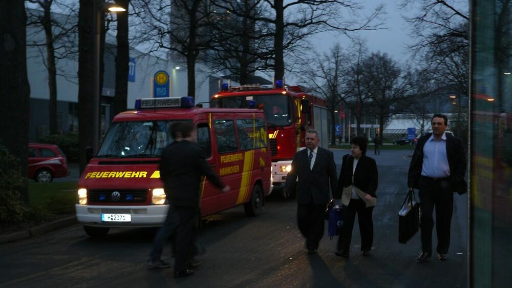 Die Feuerwehr war nicht wegen eines Brandes angerückt...