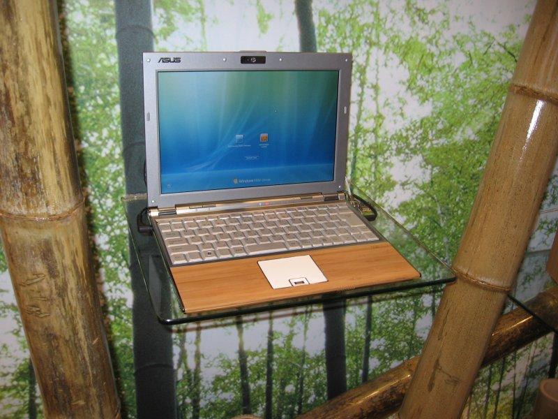 Laptop mit Bambus-Gehäuse