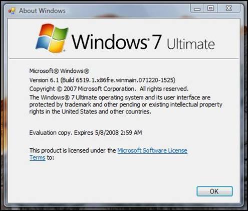Über Windows 7