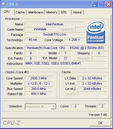 Infos zum Core 2 Duo E5200