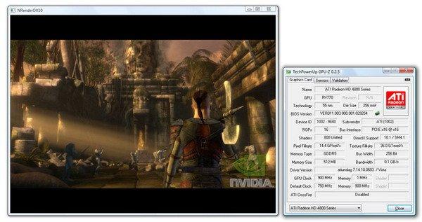 Nvidia Medusa Demo auf Radeon HD 4000 Grafikkarte