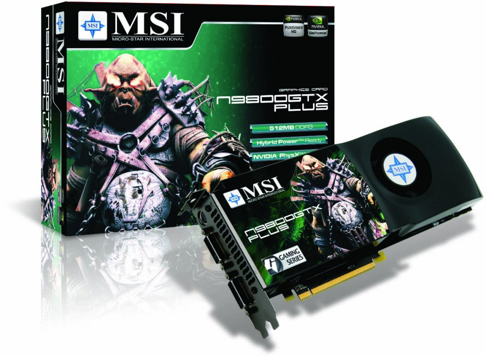 MSI N9800GTX Plus-T2D512