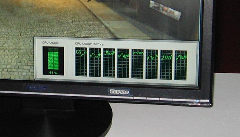 Intel Core i7 CPU verarbeitet 8 Threads gleichzeitig