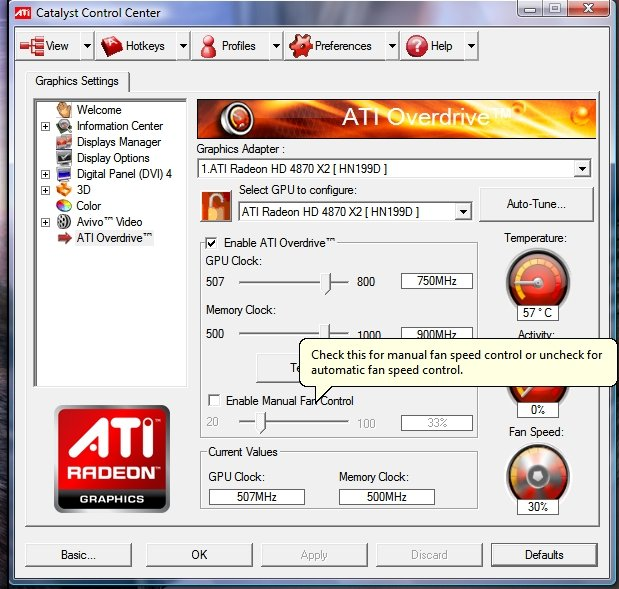 Screenshot vom Catalyst 8.10 RC2