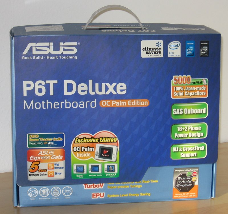 Verpackung des ASUS P6T Deluxe