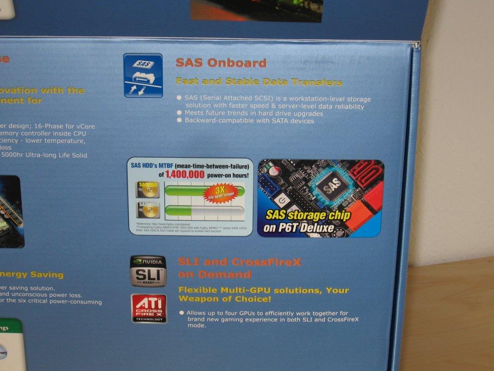 Features: u.a. SAS und SLI sowie CrossFire