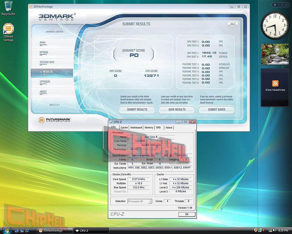 Intel Core i5: 3DMark Vantage
