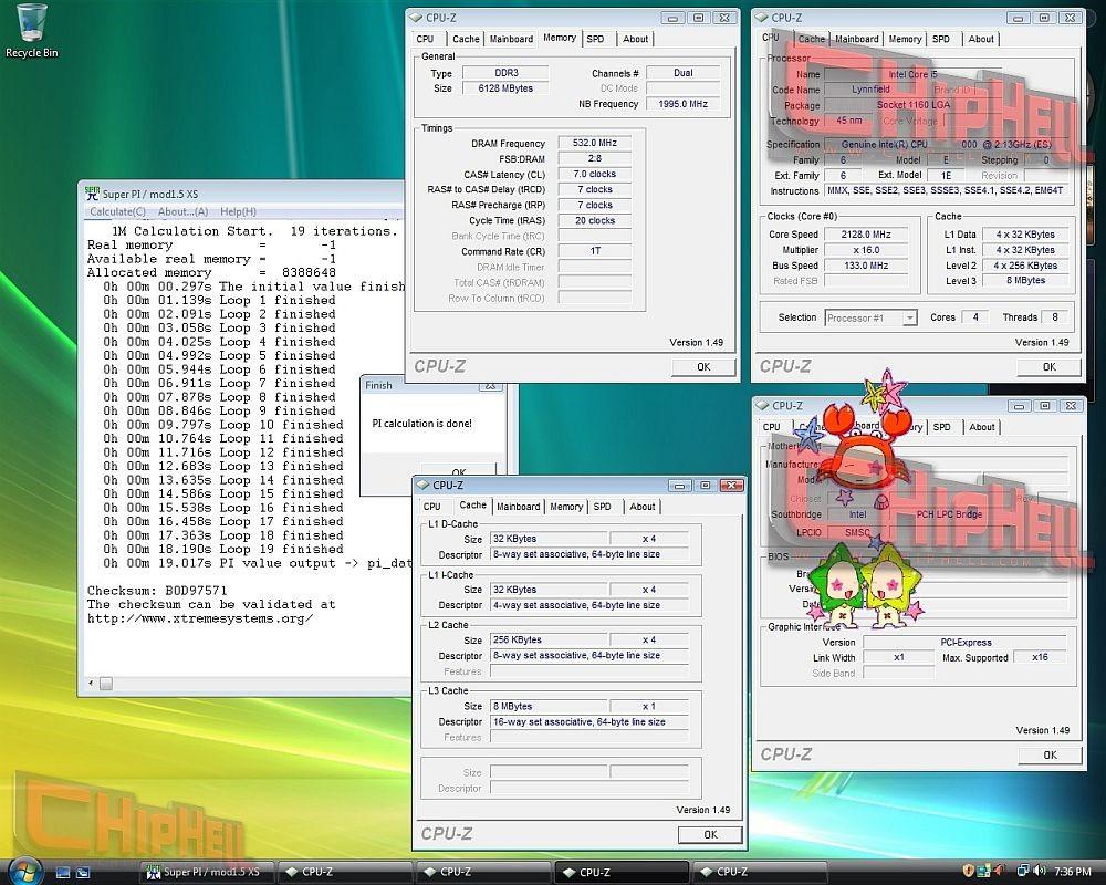 Intel Core i5: SuperPI