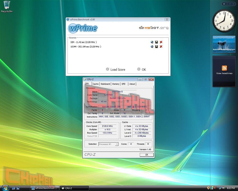 Intel Core i5: wPrime