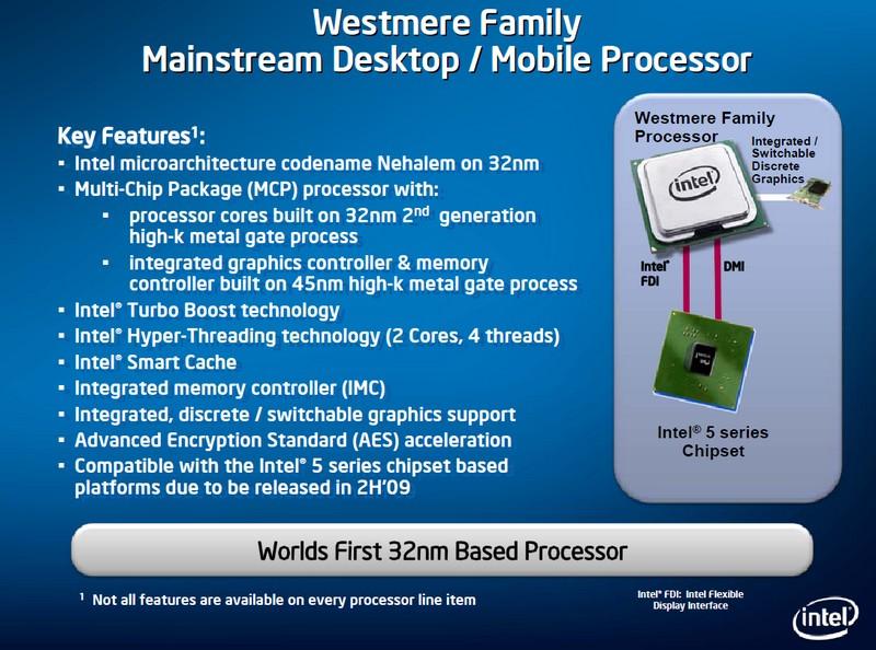 Die Features der Westmere-Prozessoren