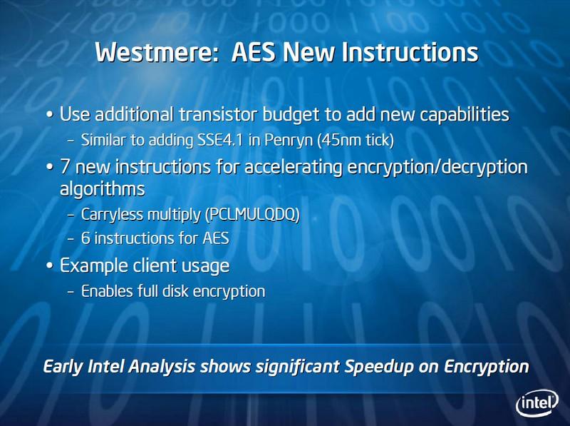 Neue Krypto-Befehle in Westmere-CPUs