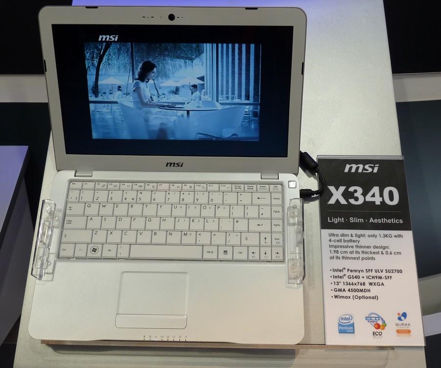 MSI X340 auf der CeBIT
