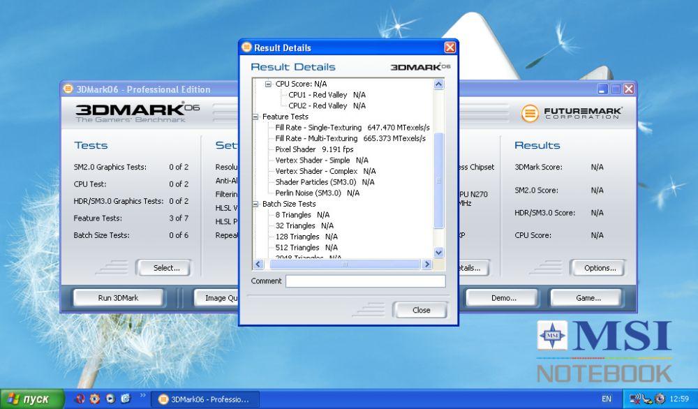 Benchmark-Vergleich: MSI Wind bei Standardtakt (166 MHz)