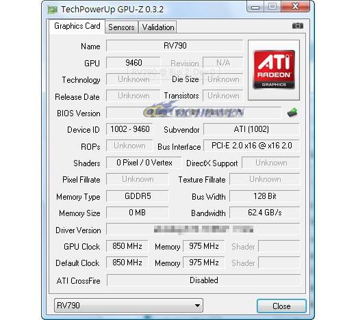 GPU-Z erkennt die Radeon HD 4890 noch nicht