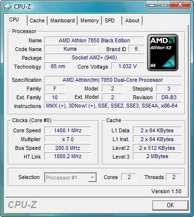 Athlon X2 7850