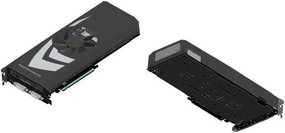 Schematische Zeichnungen der neuen GeForce GTX 295