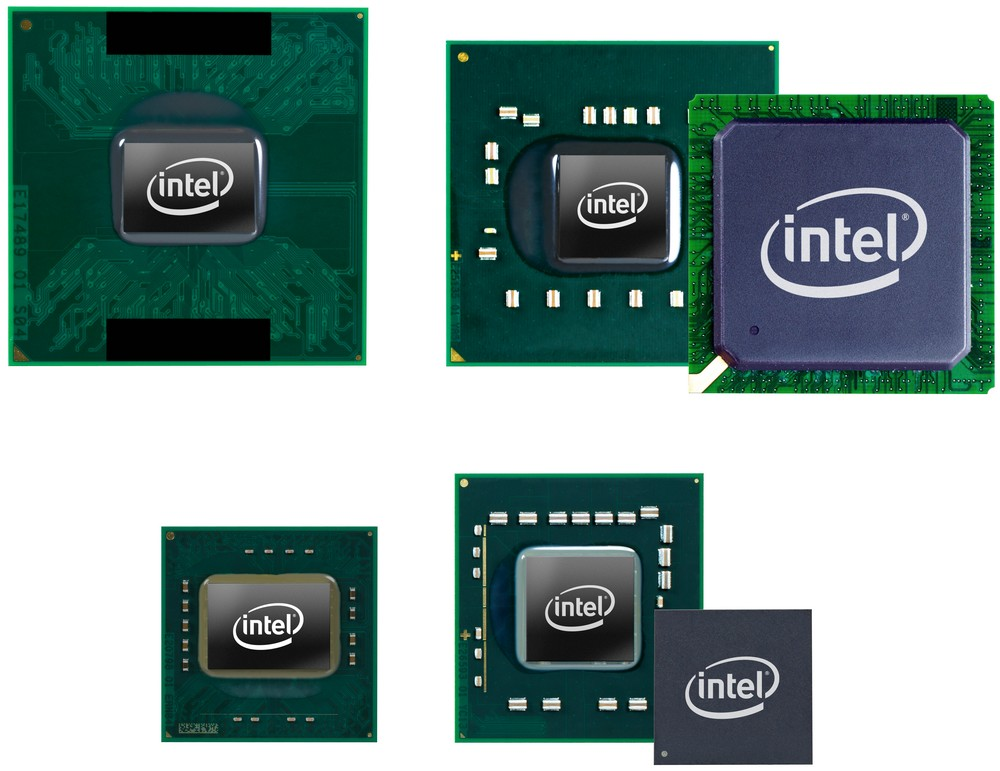 Standard Core 2 Duo und Mobile Intel GM40 Chipsatz oben, ULV-CPU und Mobile Intel GS40 Chipset unten