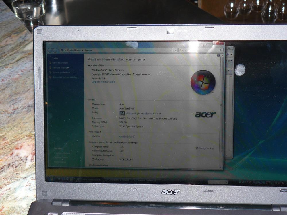 ... mit Core 2 Solo U3500 (1,4 GHz)