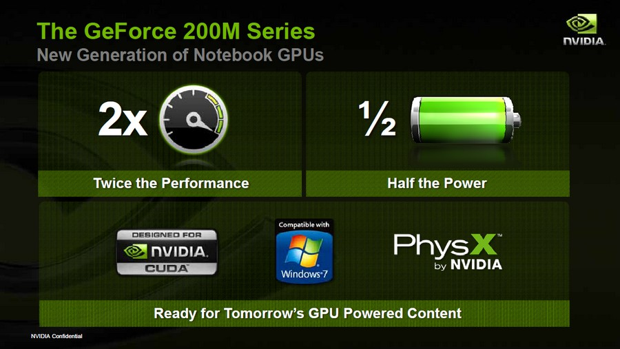 Keyfeatures der GeForce 200M Serie