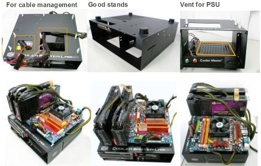 Bilder der Teststation von Cooler Master