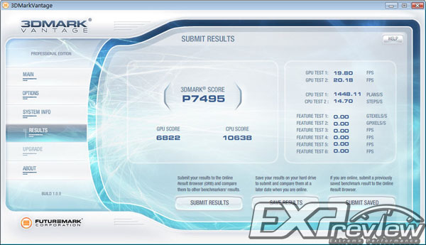 3DMark Vantage Ergebnis: Radeon HD 4850