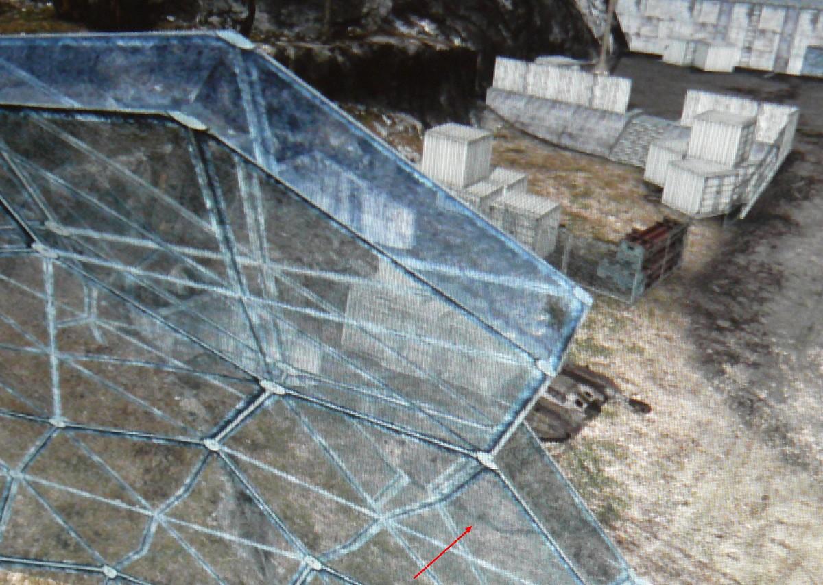 Durch dickeres oder mehrschichtiges Glas werden Objekte etwas verzerrt und versetzt