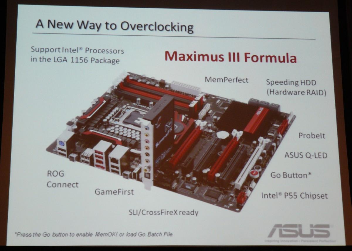ASUS Maximus III Formula Überblick