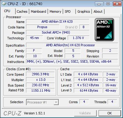 AMD Athlon II X4 mit 6 MByte L3-Cache - Bildquelle: XtremeSystems