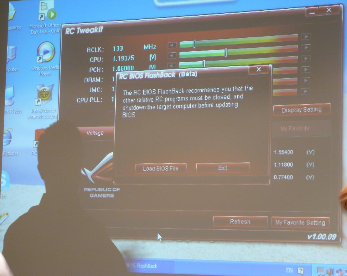 BIOS-Flashback vom Eee PC aus