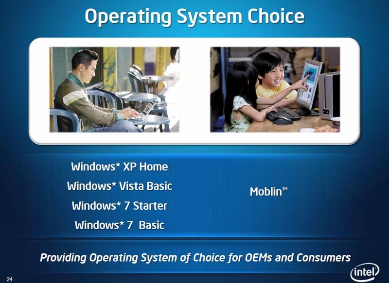 Auswahl bei Betriebssystemen