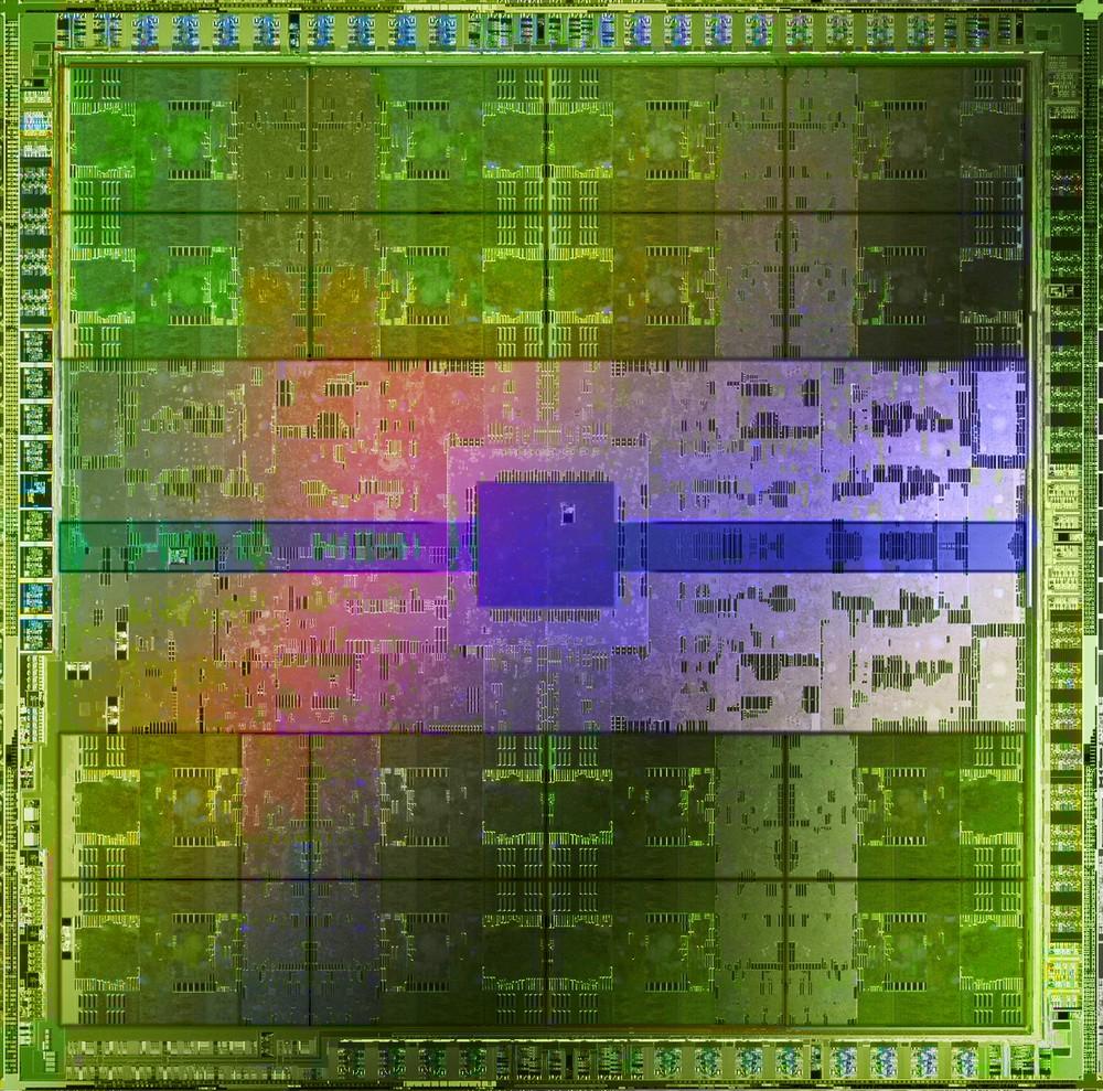 GF100 Grafikchip (Bildquelle: Nvidia)
