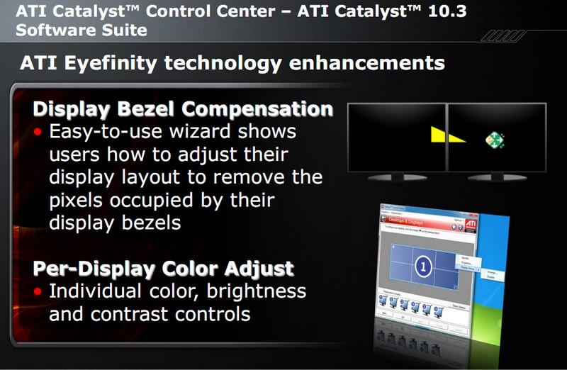 Korrektur für Monitorränder, Bildeinstellung für einzelne Monitore