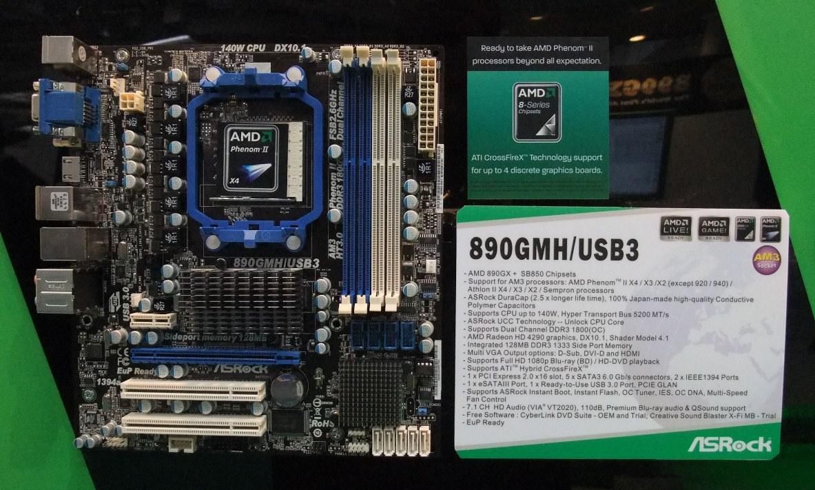 ASRock 890GMH/USB3