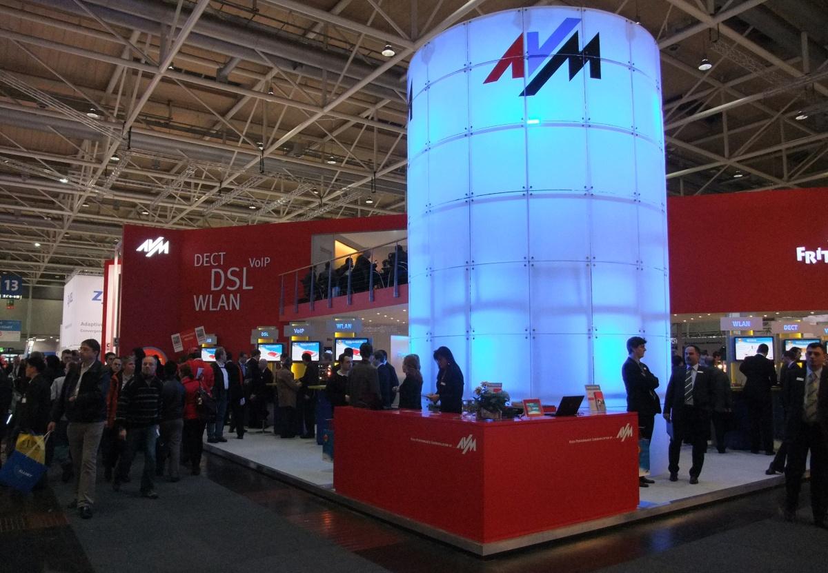 AVM-Stand auf der CeBIT 2010