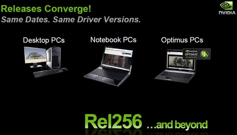 Ab Release 256 Desktop- und Mobiltreiber zum gleichen Zeitpunkt